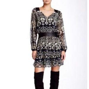 🎉🎉HOST PICK🎉🎉 Gypsy05 Faux Leather Trim Dress